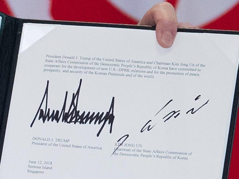 Trumps signatur